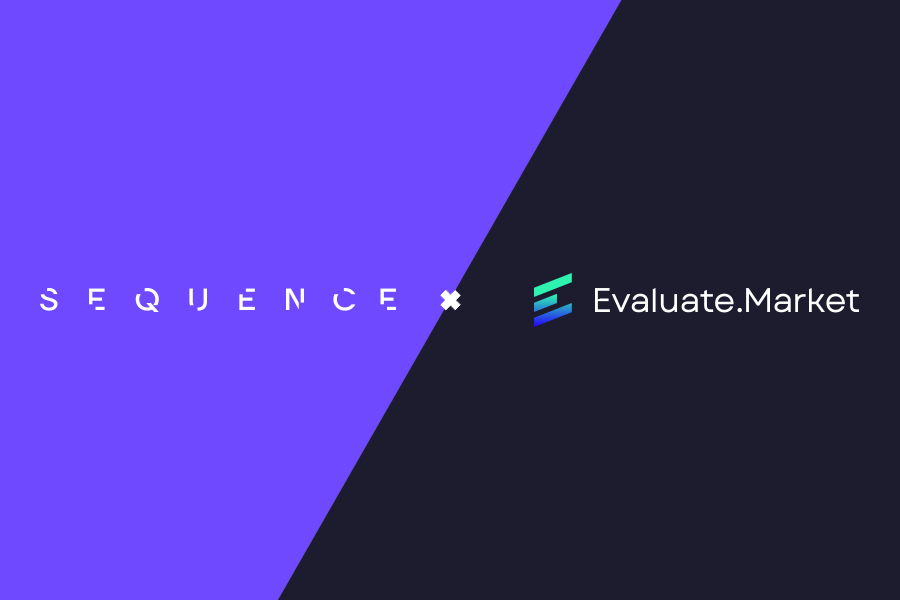 Sequence partner with Evaluate.Market Image